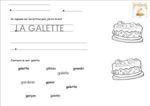 MS ecrire un mot la galette