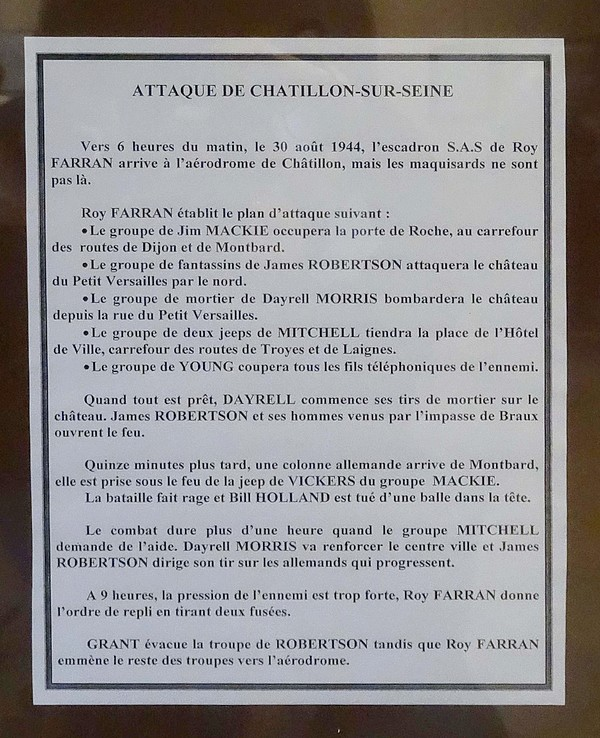 """""""Opération Wallace"""", une très belle exposition a été proposée par les Amis du Châtillonnais et le Souvenir de la Résistance à Essarois"""