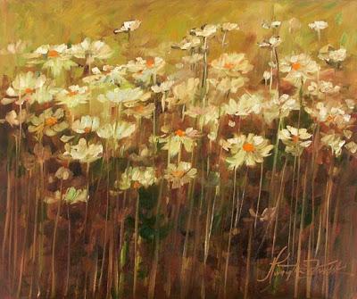 Peinture à l'huile de l'artiste polonais Malgorzata Kruk