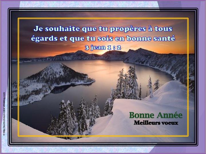 Bonne Année / Meilleurs voeux - 3 Jean 1 : 2