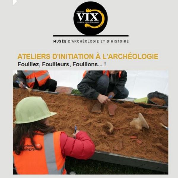 Des ateliers de fouilles archéologiques pour enfants, ont eu lieu au Musée du Pays Châtillonnais