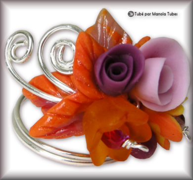Tube fleur en porcelaine 2971