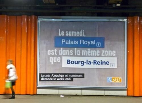 affiche Navigo stif jeu de mot Palais Royal