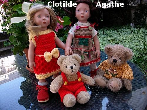 Clotilde et sa robe !