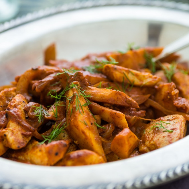 Curry de dinde et de panais