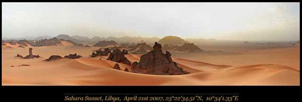 Panorama du Sahara