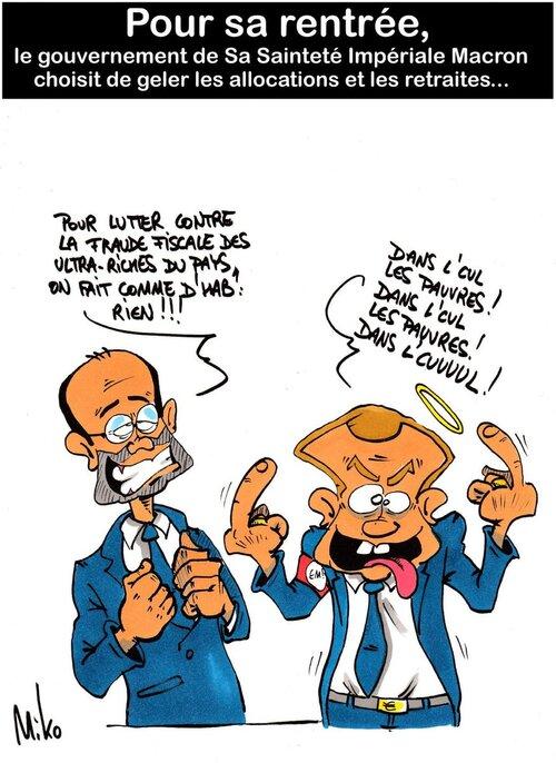 Macron use du détournement des médias.