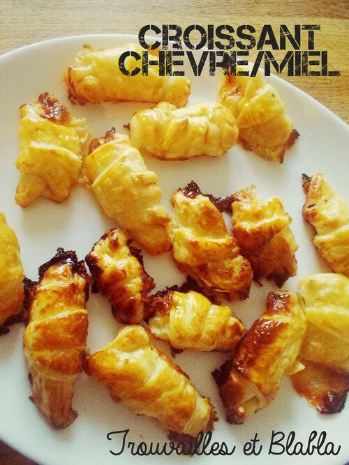 Croissants chèvre/miel de Poulette