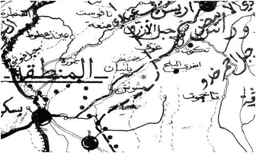 Carte géographique militaire de l'ALN de la Wilaya I