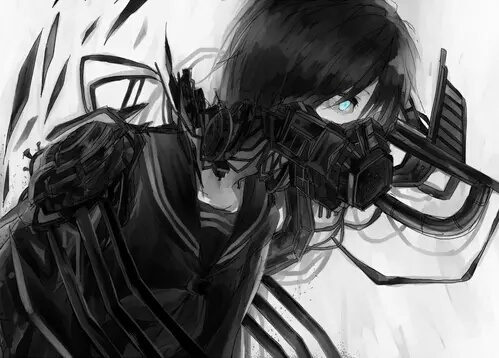 Image de anime, art, and black and white