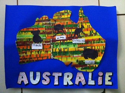 Notre superbe carte d'Australie pour l'expo