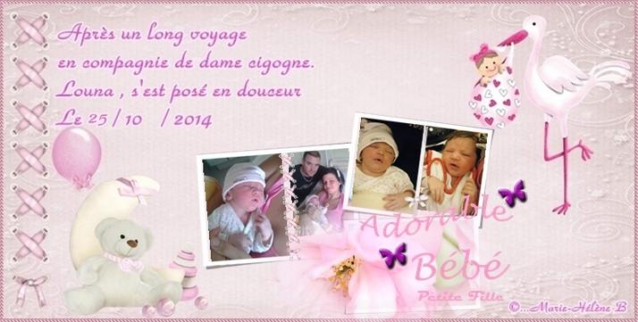 ♥♥♥ Naissance d'un petit Ange  ♥♥♥ 25/10/2014