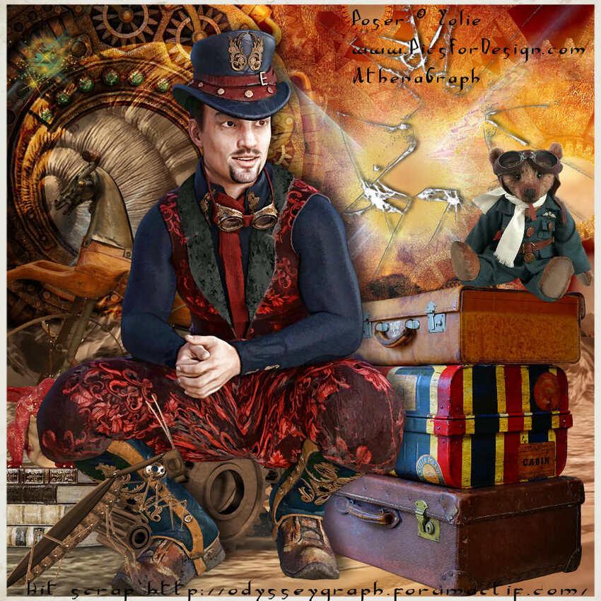 Kit scrap exclusif steampunk