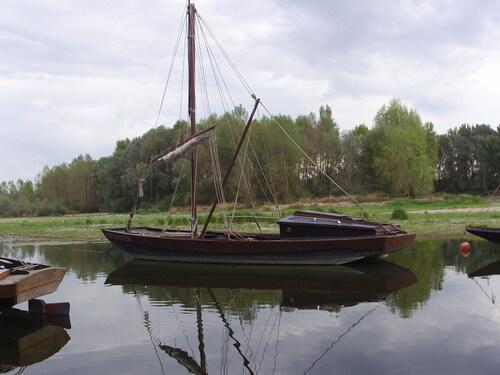 Paysage de bord de Loire à Rochecorbon