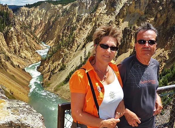 Jour 11 Yellowstone Canyon Norbert et moi
