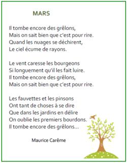 Des poésies pour le printemps