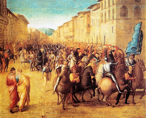 French troops under Charles VIII entering Florence 17 Novem