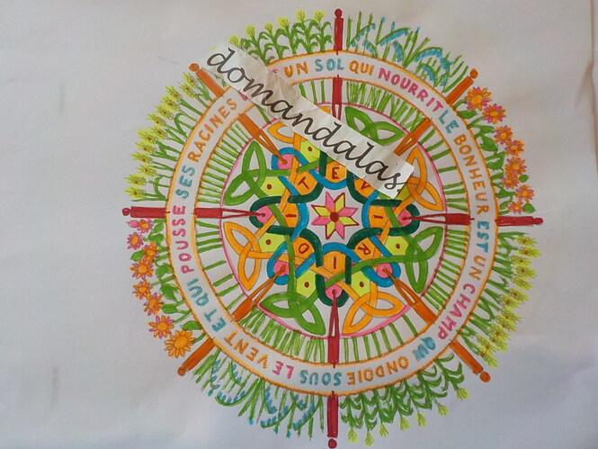 DOMANDALAS  coloriage mandala