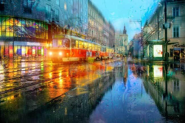 eduard gordeev photographies urbaines peinture style 5 - Ces Photos Urbaines sous la Pluie Ressemblent à des Peintures