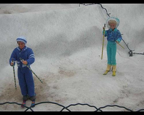 barbie et ken font du ski