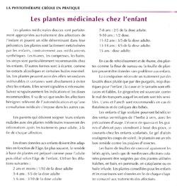 Les plantes médicinales chez l'enfant