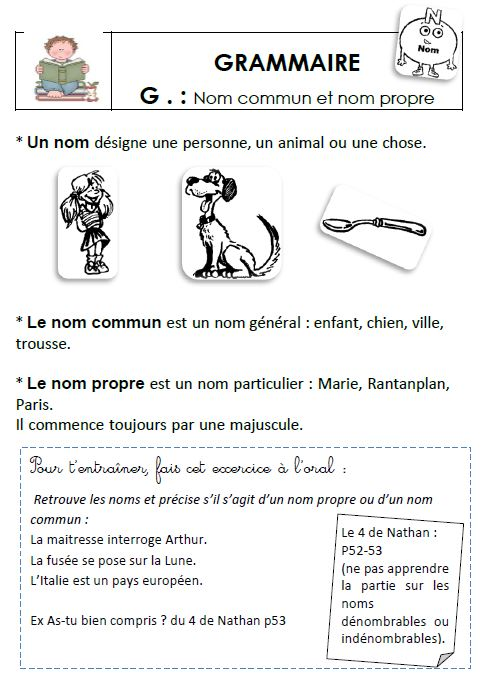 Grammaire au CE1