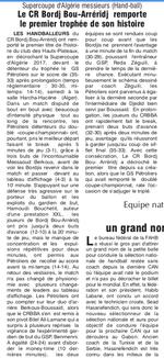 Super-coupe Handball 2019