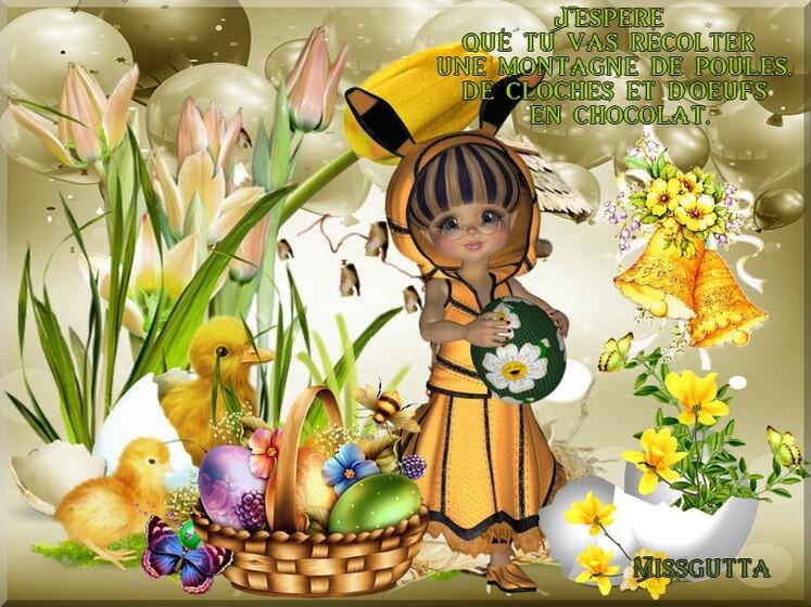 """Bonne fête de Pâques et le défi blog du partage """" Pâques """""""