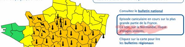 Vigilance météo orange pour risque d'orages dans l'Orne