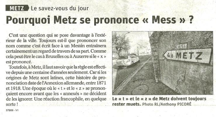 Metz ou Mess...