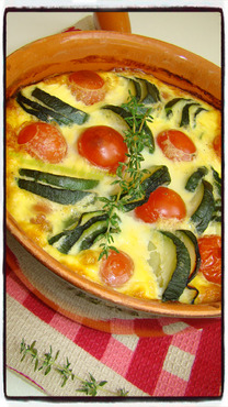 CLAFOUTIS TOATE ET COURGETTE