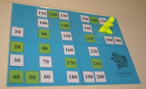 Connaître la comptine des nombres de 10 en 10