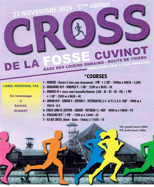 Cross de la fosse Cuvions, à Onnaing