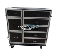 8 Drawers Flight Road Case for Tools Storage--RK8DRAWER60C