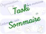 Taoki : organisation pour l'année