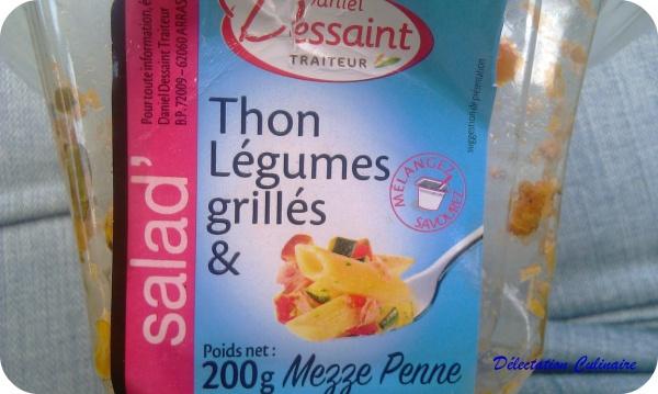 Test; Salade de Pâtes thon et légumes du soleil