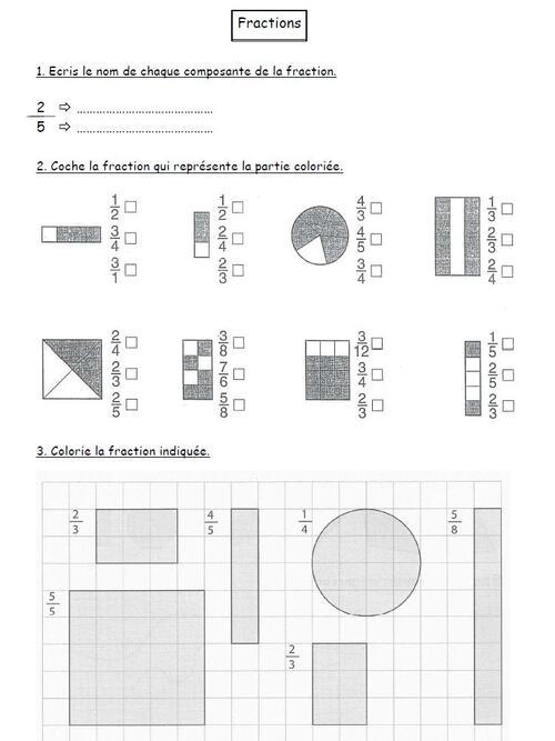 Bilan de fractions