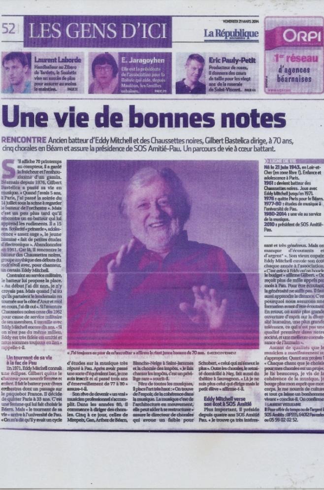 Gilbert à l'honneur dans la presse