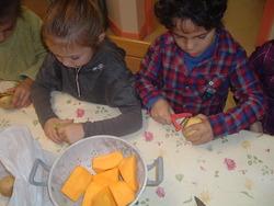 Atelier cuisine de saison: la soupe au potiron
