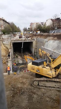 Avancement de la station 14 du métro