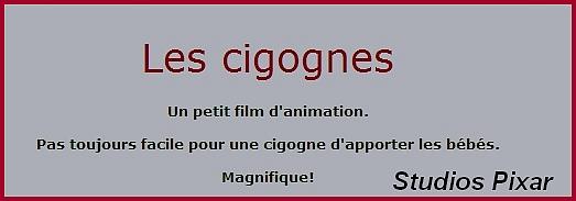 """Clip vidéo tout mignon ! """"Les cigognes"""""""