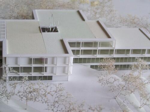 Maquette du nouveau lycée Jacques Prévert de Longjumeau