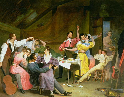 Sebastien Dulac, Bohème, 1831, Rafael Valls Galery, Londres