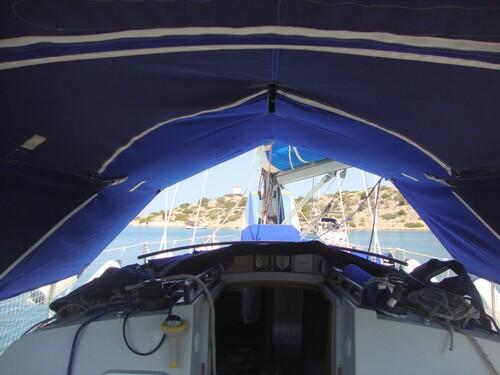 Ombrage du cockpit et de la descente sans la capote
