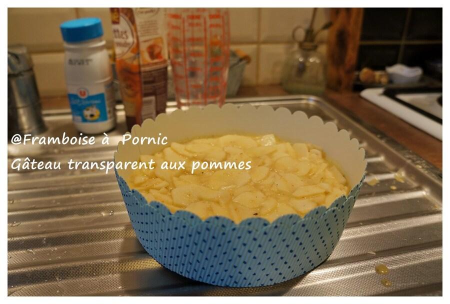 Gâteau transparent aux pommes