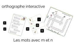 Les ateliers d'ortho interactifs : mots en M et N