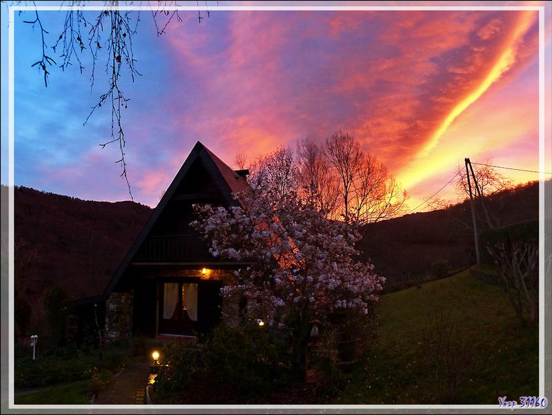 Lever de soleil très éphémère ce 08/01/2016 - Lartigau - Milhas - 31