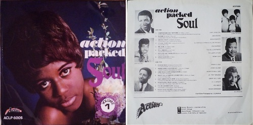 VARIOUS 'ACTION PACKED SOUL' - ACTION RECORDS ACLP 6005 - 1969