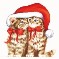Cartes de Noël, chats 9 et 10.