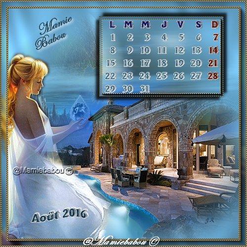 calendrier août 2016